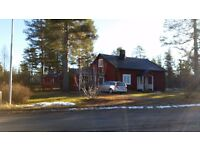 A lovely three bedroom house in Lapland, Northern Sweden, set in forests and lakes