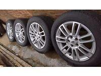 "As_New 19"" Genuine Range Rover Vogue alloy wheels Toyo H/T tyres Discovery VW T5"