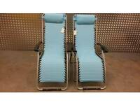 2 Lounger chairs camping