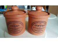 2 No Terracotta storage jars