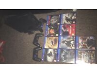 PS4 3 controllers 10 games amazing condition