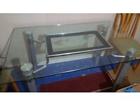 Glass dinning table & 6 chair