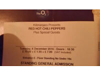 Red Hot Chili Peppers - O2 London - 6th December 2016 - 1 x STANDING TICKET