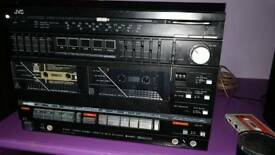 JVC retro compact Hifi - superb sound radio tape and input for anything else