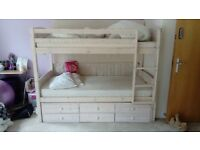girls pink bunk bed - x3 beds. Good condition, couple of scratches, great for sleep overs.