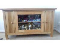 Solid Oak TV & Display Cabinet