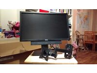 """Dell professional P2311HB 23"""" Monitor with base/stand, sound bar and wall bracket"""
