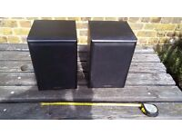 "USED Denon SC-M2 bookcase loudspeaker 70 watt, amazing sound. Only 7.5"" wide, 8"" deep and 11 "" tall"