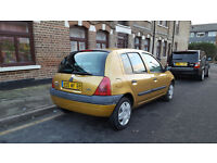 Renault Clio 1.2 (LHD) LEFT HAND DRIVE + 2002 MODEL + FRENCH REGISTERED + 5 DOOR + GOLD +