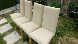 4 Dining chairs (pre loved)