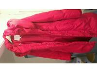 Monsoon Raspberry long Quilted Coat