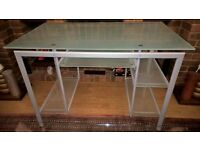 Glass computer desk with pull out keyboard shelf £30 ONO