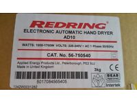 Redring electronic automatic hand drier new sealed
