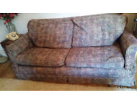 Very neat two seater sofa - feather cushions, FREE to collector
