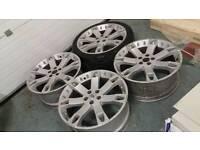 "Genuine 22"" range rover alloy wheels + tyres! 5x120 overfinch land rover bmw"