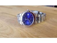 Silver And Blue Accurist Wrist Watch