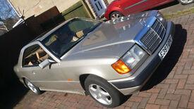 1987 MERCEDES 300 CE AUTO BEIGE Coupe MOT cream leather interior, classic car