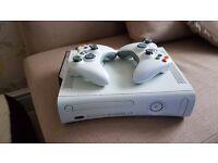 Xbox 360 120GB, wifi, hdmi, 2 wireless controllers + 10 Games