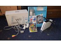 Nintendo Wii Boxed Bundle (2 Nunchucks, 3 Games, Sensor, Stand) Mario Games