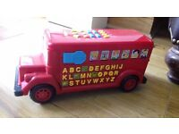 Toy Bus with music letters numbers