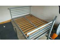 Steel double bed frame