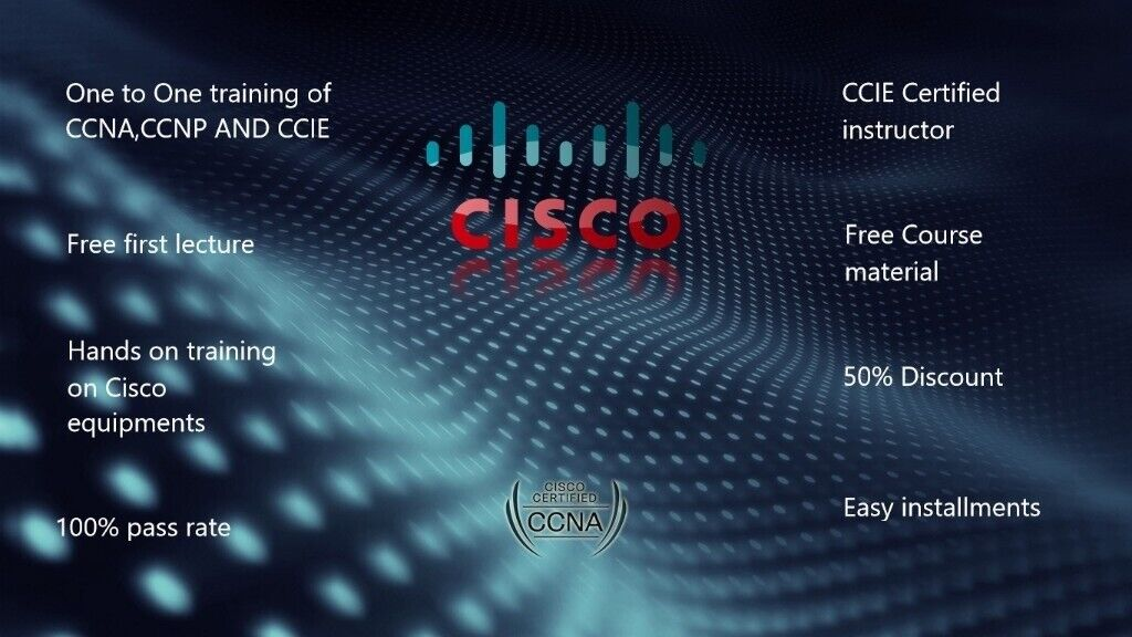 CISCO CCNA,CCNP & CCIE QUALIFICATION ,FREE FIREWALL TRAINING ,2 MIN