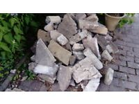 Free used bricks/slabs/rubble