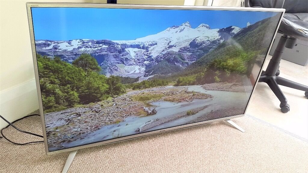 sharp 43 4k. sharp 43 inch lc-43cug8462ks 4k uhd led smart tv with freeview hd