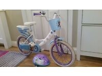 "Disney frozen (toys r us) girl's 16"" bike with helmet. In excellent condition, hardly used."
