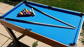 Pool table and table football
