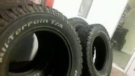 """BF GOODRICH 17"""" 4x4 tyres made in usa"""