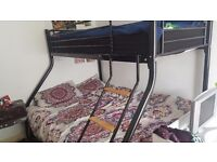 Almost new triple sleeper bed frame