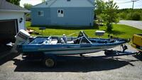 Kingfisher bass boat and trailer