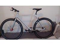 Single speed Fixie bicycle plus accessories NO LOGO