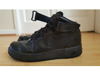 Nike Air Force High Tops (Black) (8.5 UK)