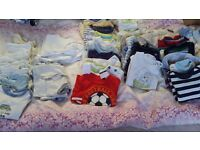 Over 100 baby boy clothes. 0-3 months.