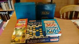 Collection of various games and quiz books