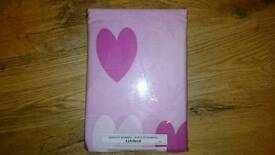 Double bed set brand new pink and pink hearts