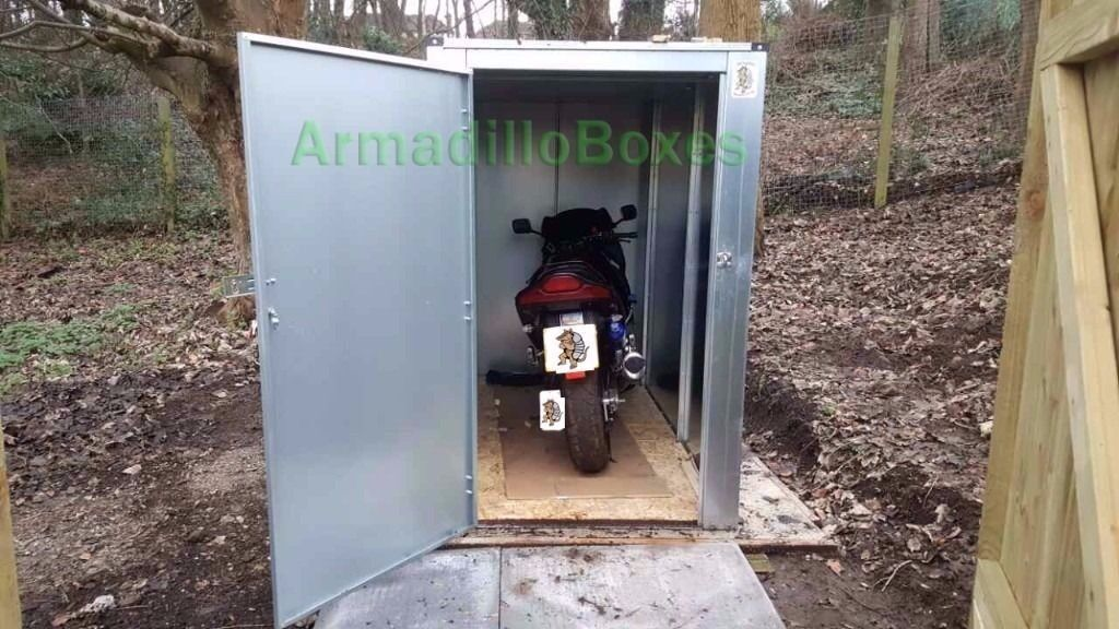 Motorcycle Storage Shed : Motorcycle storage shed box rust proof galvanised steel