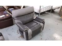 EX DISPLAY RALPH SCS ARMCHAIR MANUAL RECLINER GREY View/Collect Kirkby NG17 CAN DELIVER