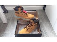 Men's Steel Toe Work Boots UK Size 9