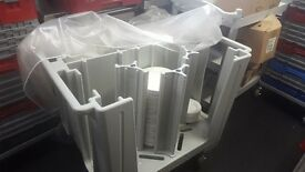 CATERING EQUIPMENT-CAMRO MOBILE TROLLEY + 100 PLATES FOR SALE