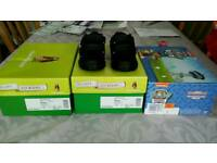 Hush Puppies infant boys shoes size 7 new in box + Paw Patrol trainers size 5 new in box