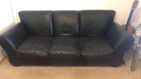 3 seat Black sofa