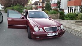 2000 MERCEDES E 200K ELEGANCE AUTO (1998 cc) PETROL BOUGHT NEW ONE PRIVATE OWNER