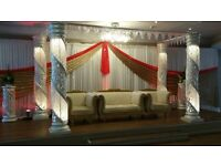 Wedding Stage Hire, Completed stages setup and ready for your special day