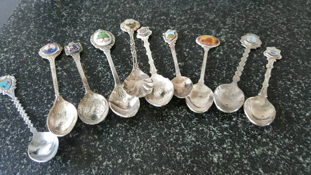 Collectable silver plated spoons