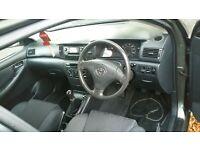 Toyota corolla 1.4(2002) petrol.5 doors.miles 107000.hatchback