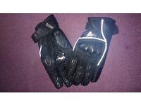 Akito Leather Motorbike Gloves Large Size VGC