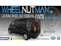 Locking Wheel Nut Removal , All Makes Removed Guaranteed. Uses Own Manufactured Systems. 24h C/out